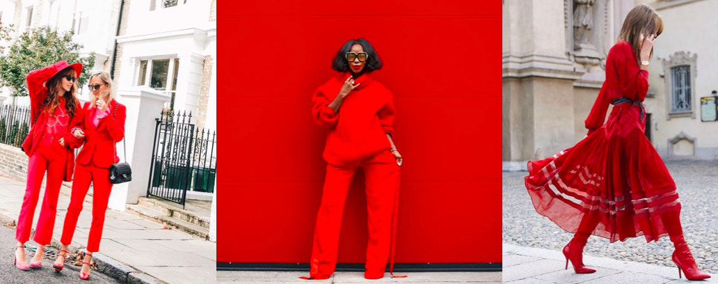Du rouge en décembre : 30 looks total red