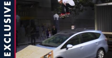 Dew Tour (San Francisco) - Ryan Sheckler car gap