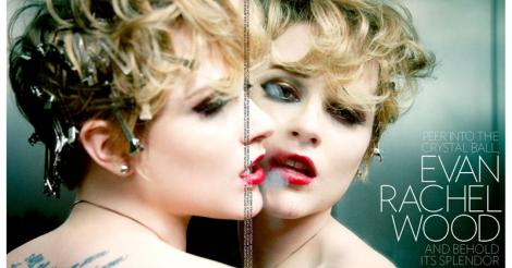Édito: Evan Rachel Wood - Wild child dans le Flaunt