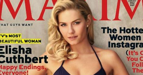 "Elisha Cuthbert is the ""hottest woman in TV"" according to Maxim magazine, at least"
