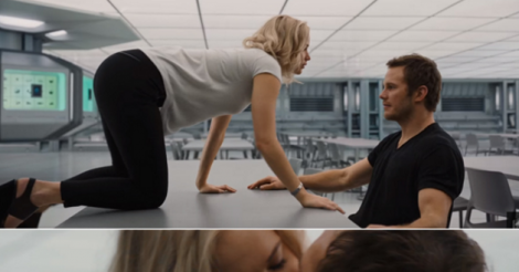 Jennifer Lawrence and Chris Pratt are smoking HOT in the Passengers trailer.