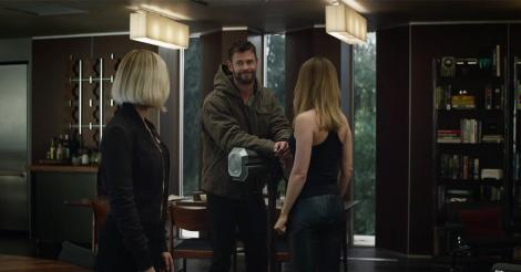 Thor Bonds with Captain Marvel in the New Avengers: Endgame Trailer