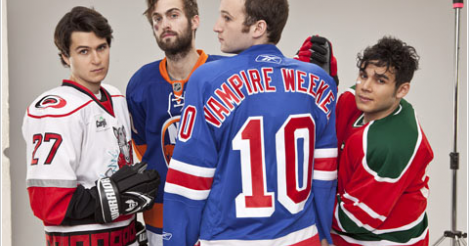 Vampire Weekend et la NHL.