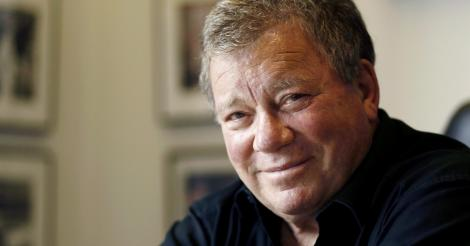 A bold William Shatner does his Escape From Planet Earth thing