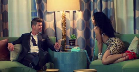 Watch Robin Thicke get rejected by Nicki Minaj in his own music video