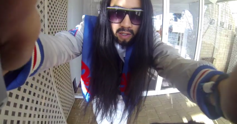 Watch what happens when this Steve Aoki lookalike attends an electronic music festival