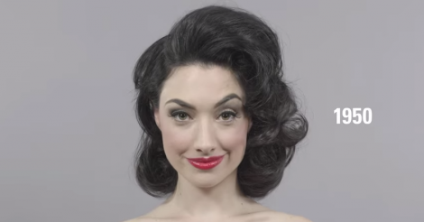 Watch 100 years of hair and makeup trends in 1 minute [VIDEO]