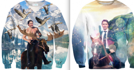 These majestic Justin Trudeau sweaters are heaven