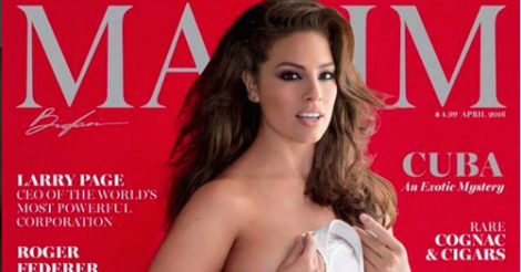 Ashley Graham becomes Maxim's first plus-size cover model - see the NSFW spread here