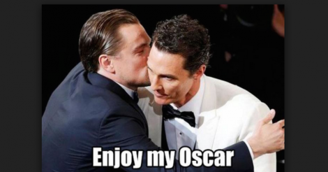 5 Leonardo DiCaprio GIFs that perfectly sum up how we feel about his first Oscar win