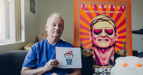 Bill Murray talks crashing parties and the role that got away in kickass Reddit AMA