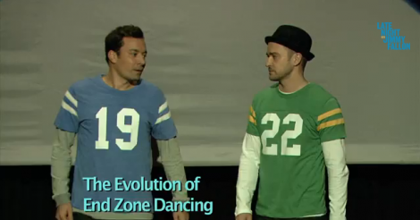 Justin Timberlake and Jimmy Fallon show us the 'Evolution of End Zone Dancing' [VIDEO]