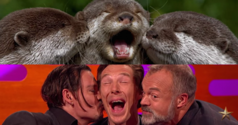 Watch Benedict Cumberbatch and Johnny Depp act like otters [VIDEO]