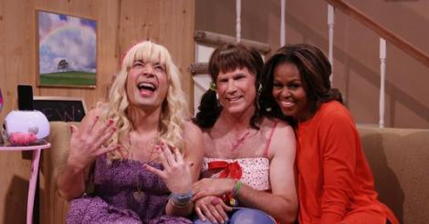 Michelle Obama is adorable alongside Jimmy Fallon and Will Ferrell in 'Ew!' sketch [VIDEO]