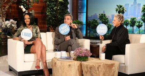 Rihanna and George Clooney play Never Have I Ever on Ellen [VIDEO]