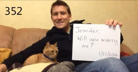 Man proposes 365 times, girlfriend only finds out a year later - did she say yes?!