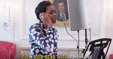 Michelle Obama raps about going to college and it's amazing [VIDEO]