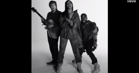 Rihanna, Kanye West And Paul McCartney play it cool in FourFiveSeconds' music video