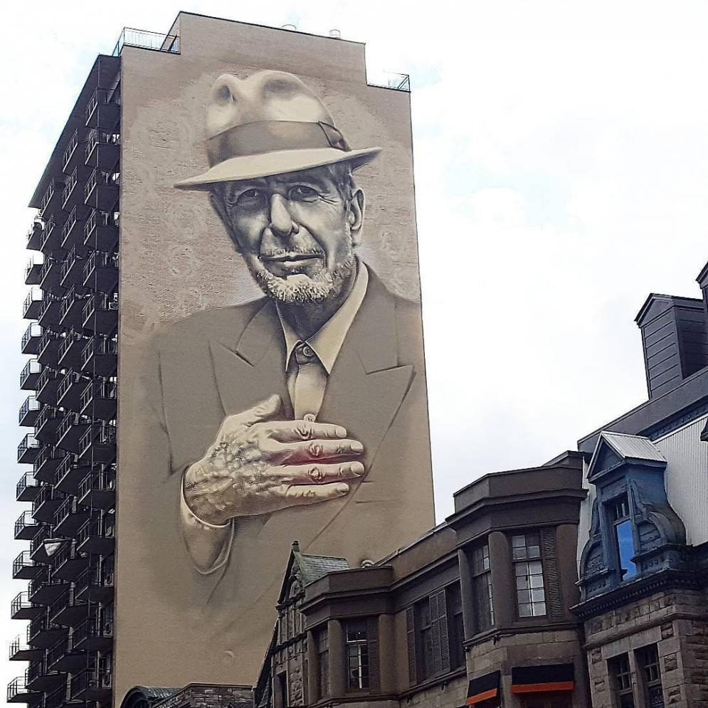 Mural Leonard Cohen Of The Great Leonard Cohen Died One Year Ago Today Here 39 S My