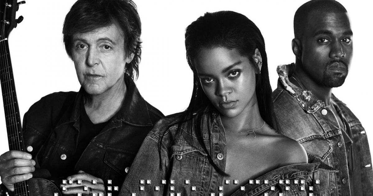 Rihanna, Kanye West and Paul McCartney's new collaboration FourFiveSeconds is out and it's GOOD!