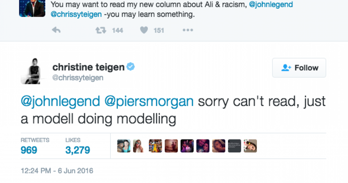 Chrissy Teigen trolling Piers Morgan is the best thing you'll see today!