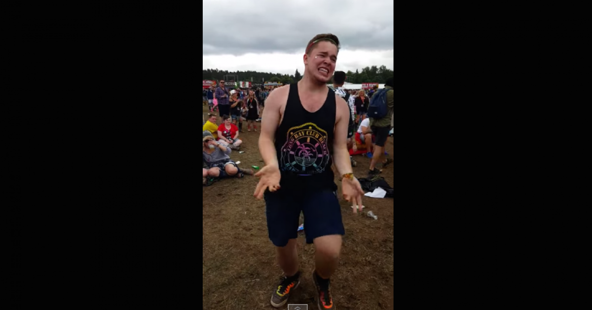 Watch a Scottish festival-goer win summer with an insane