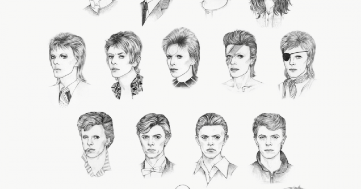See David Bowie's hair evolution in one beyond amazing GIF - do it!