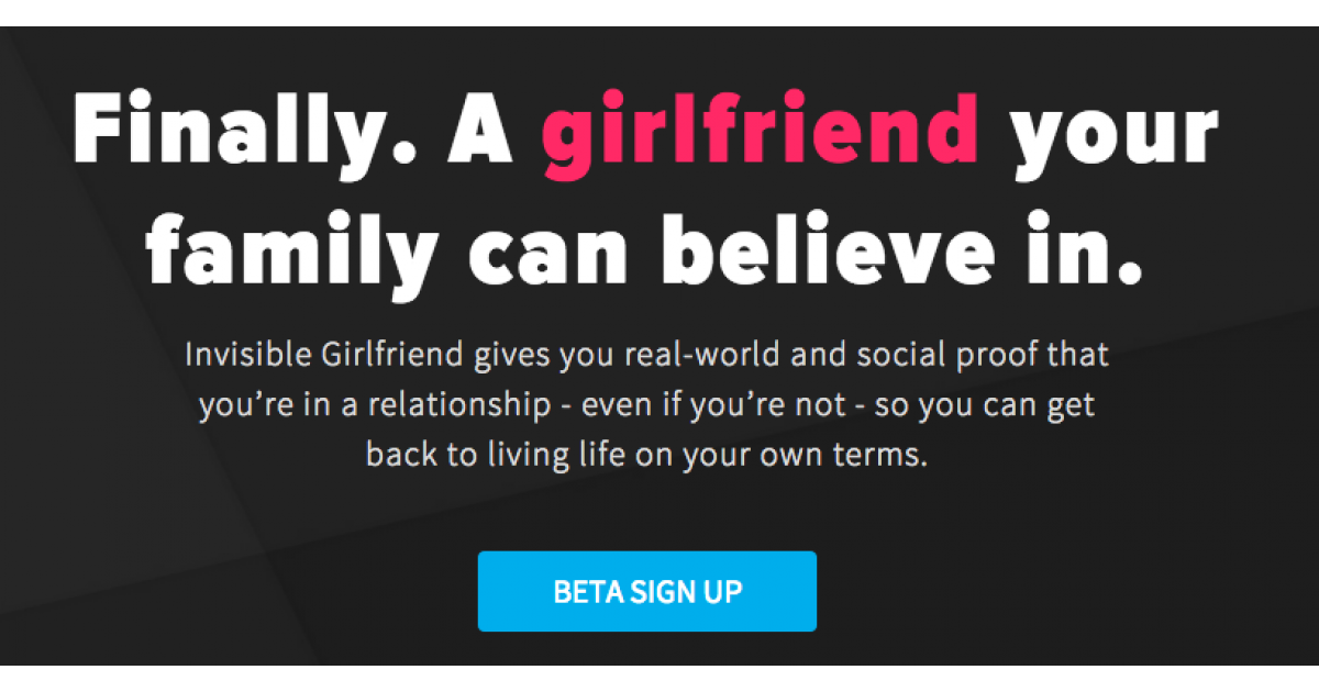 Invisible Girlfriend app helps users trick friends into believing they have a significant other