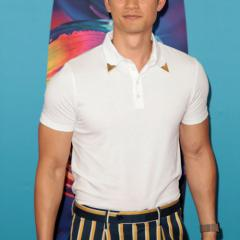 Shadowhunters star Harry Shum Jr. showed up in stripes (and muscles!).
