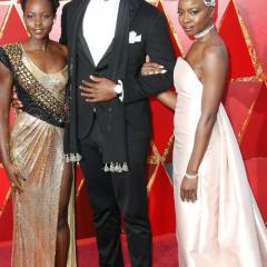 Black Panther stars  Lupita Nyong'o,Winston Duke and Danai Gurira