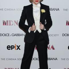 You've done the whole being dressed as a dude thing before, Madge, we're over it. F for effort.