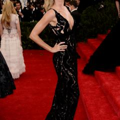 Gisele Bundchen: Between the plunging neckline and sequins, this gown is almost too sexy to handle.