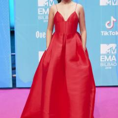 Camila Cabello arrives at the 25th MTV Europe Music Awards 2018.