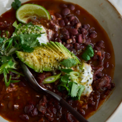 Slow Cooker Black Bean Chili with Kahlua
