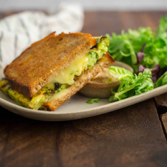 Broccoli Frittata Grilled Cheese Sandwich