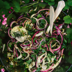 Roasted Fennel Salad with Lentils & Lemon Vinaigrette