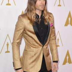 Jared Leto: The perfect outfit for a rock star. A++.