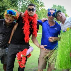 On a eu un bon swing au tournoi annuel de golf!