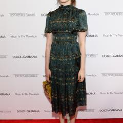 Margaret Qualley: Not sure if overly matronly or totally fashion forward...