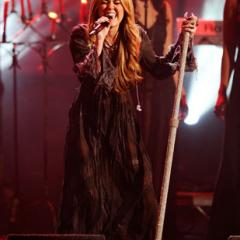 "Miley Cyrus does her best Stevie Nicks impression while performing ""Forgiveness and Love."""