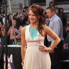 Victoria Duffied arrives at the 2012 MuchMusic Video Awards in Toronto on June 17, 2012.