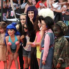 Katy Perry arrives at the 2012 MuchMusic Video Awards in Toronto on June 17, 2012.