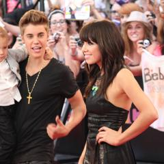 Justin Bieber and Carly Rae Jepson arrive at the 2012 MuchMusic Video Awards in Toronto on June 17, 2012.